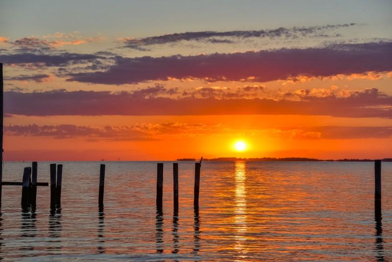 sunset on assawoman bay beautiful