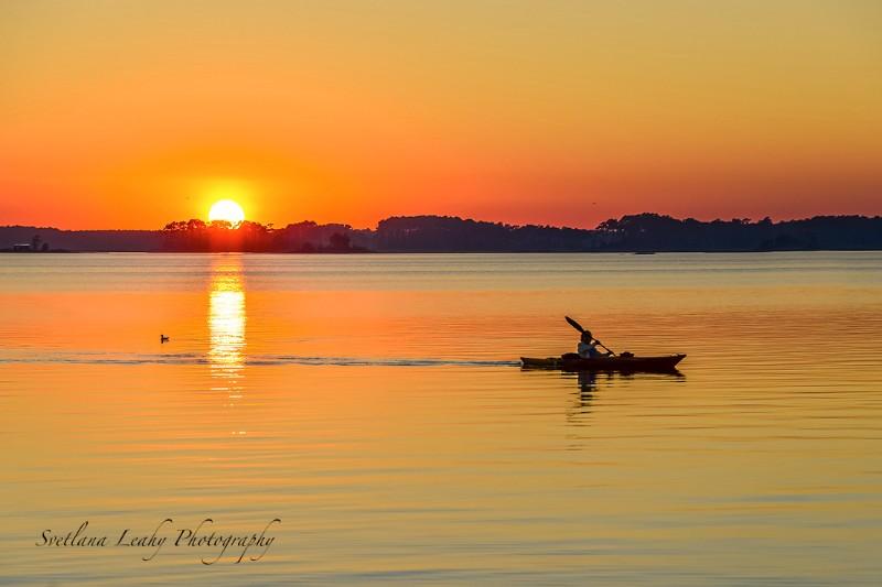 kayaking on Assawoman Bay Maryland