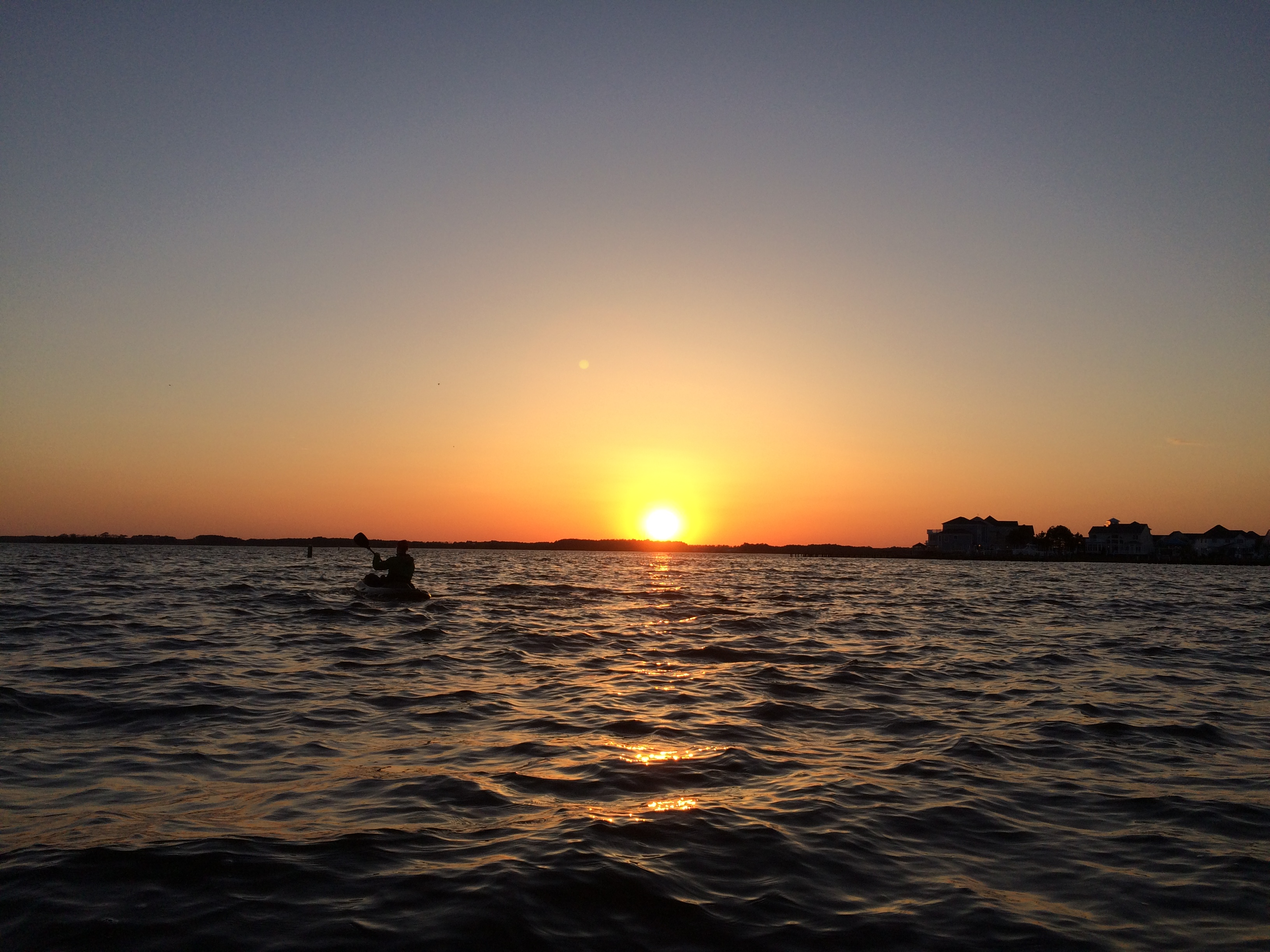 Ocean City Maryland Sunset on Assawoman Bay on a Kayaking trip from MadMen Beach House