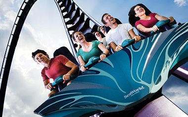 Mako SeaWorld thrilling rollercoaster